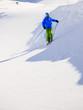 Skiing, Skier, Freeski,  Freeride in fresh powder snow