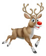 Christmas Cartoon Reindeer - 72971136