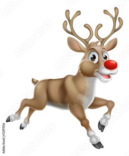 Christmas Cartoon Reindeer - 72971136