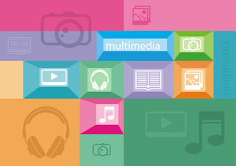 Multimedia icons of user interface elements