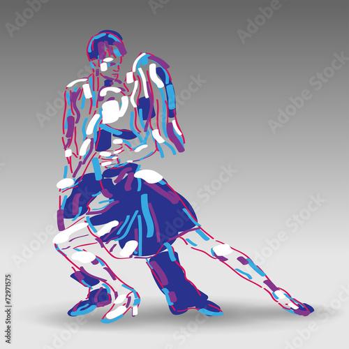 Obraz na Szkle tancerze wektor