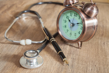 Stethoscope and fountain