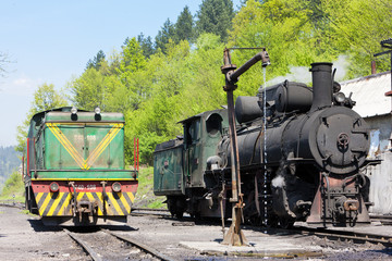 locomotives, delivery point in Oskova, Bosnia and Hercegovina