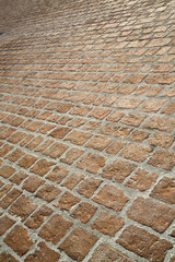 brick in busto arsizio street lombardy italy
