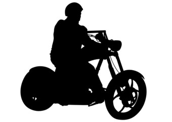 Motorcyclist whit helmet