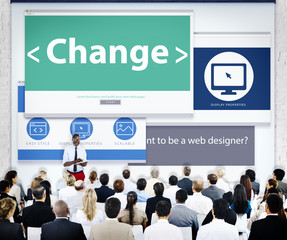 Business People Seminar Change Concepts