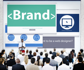 Business People Brand Presentation Concepts