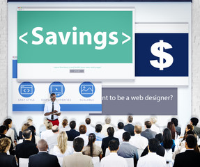 Group of Business People Seminar Saving Concepts