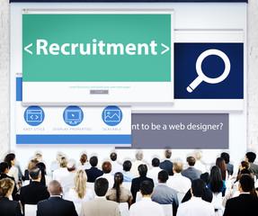 Business People Recruitment Web Design Concepts