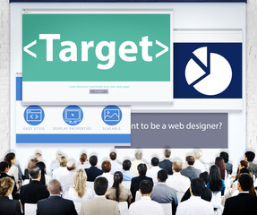 Business People Target Web Design Concepts