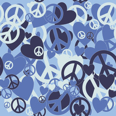 Military Camouflage Love and Pacifism sign
