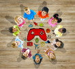 Multiethnic Group of Children with Play Concepts