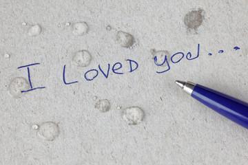 I loved you