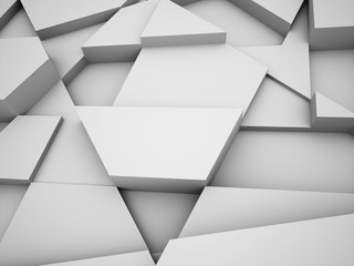 Silver abstract triangle business concept