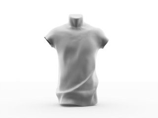 Silver t shirt concept rendered isolated on white
