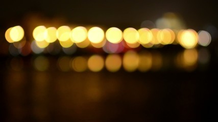 night city (night urban)- lamps and headlights - blurred