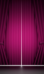 Pink curtain cloth
