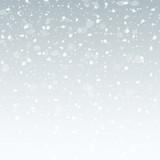 Fototapety blue grey christmas snowflakes