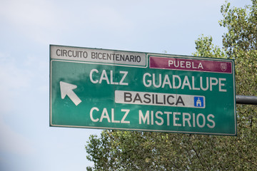 mexico city guadalupe basilica street sign
