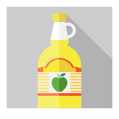 Vector flat apple cider vinegar bottle template
