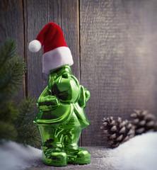 Grüner Weihnachtswichtel