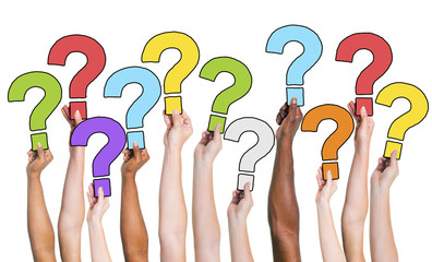 People Hands Holding Question Marks