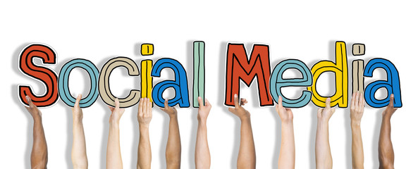 Social Media Word Concepts on Background