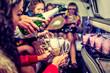 Leinwanddruck Bild - Hen-party with champagne