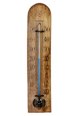 The vintage thermometer