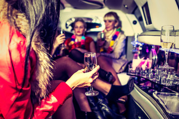 Hen-party with champagne
