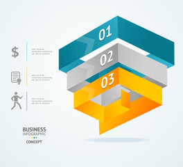 Vector Pyramid chart for infographics design