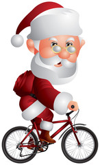 Santa Claus on the BMX Bicycle