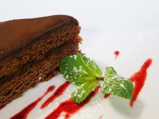 Detail of chocolate cake
