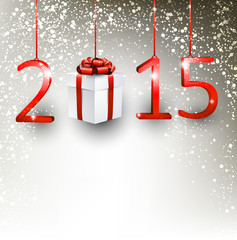 2015 new year gift background.