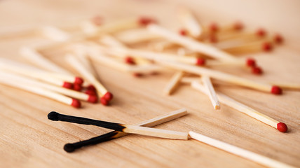 Heap of matchsticks