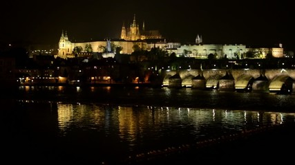 night city - Prague Castle (Hradcany) - Charles bridge