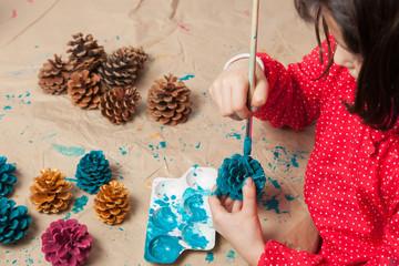 Painting Chrismas ornaments