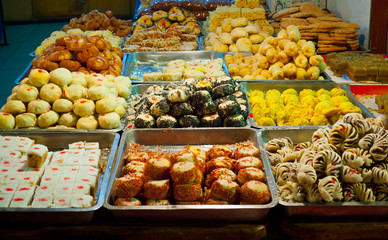 Traditional pastry stall