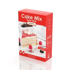 3D Cake Mix paper package isolated on white