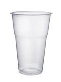 Disposable plastic pint glass