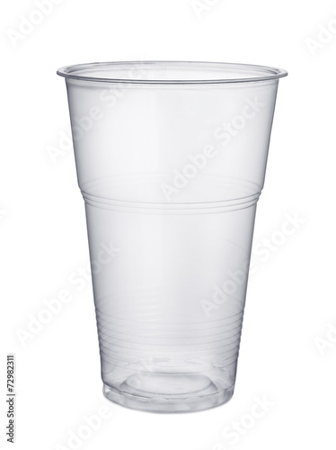 Leinwandbild Motiv Disposable plastic pint glass