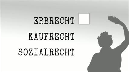 Anwaltskanzlei, Justitia  Erbrecht Clip