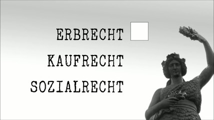 Anwaltskanzlei, Justitia  Erbrecht Clip 1
