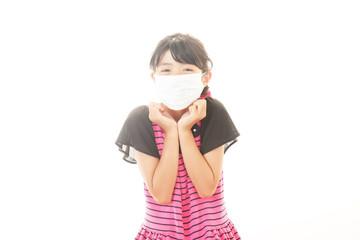 風邪にり患した女の子