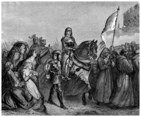 Joan of Arc : entering Orleans - 15th century