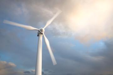Wind generator turbine , Blurred motion