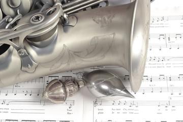 Saxophone sepia