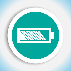 battery vector icon logo