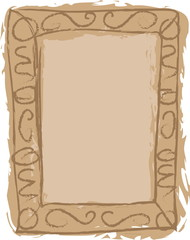 doodle grungy framework scrapbook, photo frame