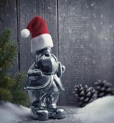 Silberner Weihnachtswichtel